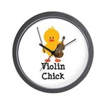 Violin Chick Wall Clock