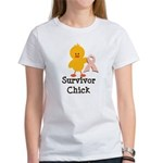 Pink Ribbon Survivor Chick Women's T-Shirt