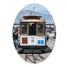 SF Cable Car - Gift Ornament/Keepsake Oval