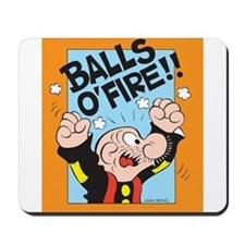 Balls O'Fire! Mousepad