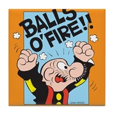 Balls O'Fire! Tile Coaster