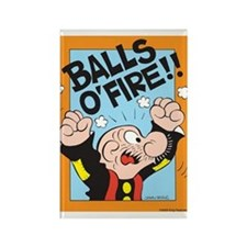 Balls O'Fire! Rectangle Magnet