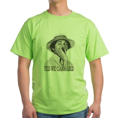 Yes We Cannabis Green T-Shirt