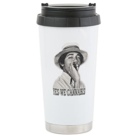 Yes We Cannabis Ceramic Travel Mug