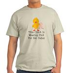 Pink Ribbon Chick For Sister Light T-Shirt