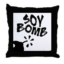 Soy Bomb Throw Pillow