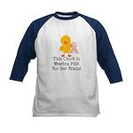 Pink Ribbon Chick For Friend Kids Baseball Jersey