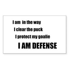 Defense Rectangle Sticker 50 pk)