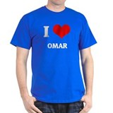 I Love Omar Black T-Shirt