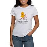 Pink Ribbon Chick For Grandma Women's T-Shirt