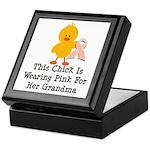 Pink Ribbon Chick For Grandma Keepsake Box