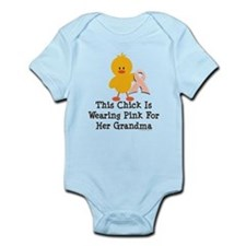 Pink Ribbon Chick For Grandma Infant Bodysuit