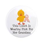 Pink Ribbon Chick For Grandma 3.5