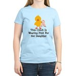 Pink Ribbon Chick For Daughter Women's Light T-Shi