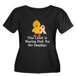Pink Ribbon Chick For Daughter Women's Plus Size S