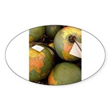 GLOBES 01 Oval Decal