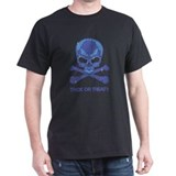 Rhinestone Skull and Crossbones T-shirt (dark)