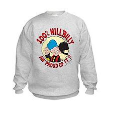 Hillbilly An' Proud! Kids Sweatshirt