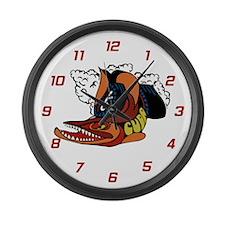 Vintage Cuda Fish Large Wall Clock