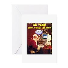 Santa Swings Greeting Cards (Pk of 10)