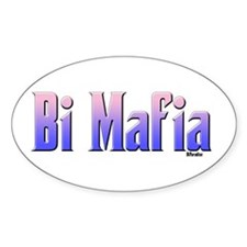 Bi Mafia Bi Colors Oval Decal