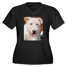 Hailey Wire Fox Terrier Photo Women's Plus Size V-