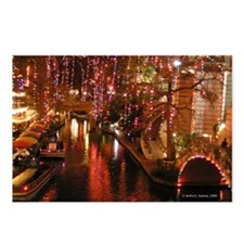 San Antonio Riverwalk w/ Christmas Lights Postcard