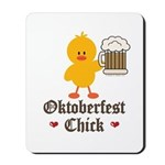 Oktoberfest Chick Mousepad