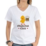 Oktoberfest Chick Women's V-Neck T-Shirt