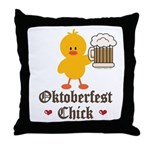 Oktoberfest Chick Throw Pillow