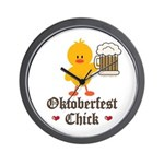 Oktoberfest Chick Wall Clock