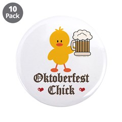 "Oktoberfest Chick 3.5"" Button (10 pack)"