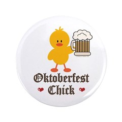 "Oktoberfest Chick 3.5"" Button (100 pack)"