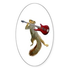Squirrel Red Guitar Decal