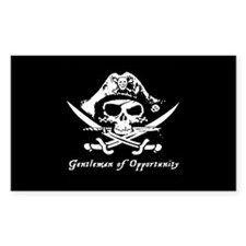 Gentleman of Opportunity Pirate Sticker Rectangle)