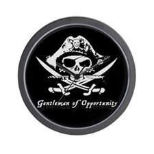 Pirate Flag gentleman of Opportunity Wall Clock