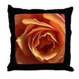 Cute Peach roses Throw Pillow