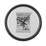 New York Herald Large Wall Clock