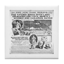 New York Herald Tile Coaster