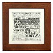 New York Herald Framed Tile