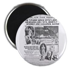 "New York Herald 2.25"" Magnet (100 pack)"