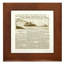 Titanic Leaves Southhampton To-Day Framed Tile