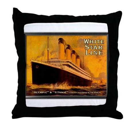 White Star Titanic Throw Pillow