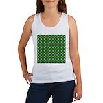 Green Scintillating Grid Women's Tank Top