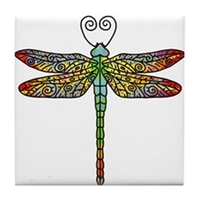 Pretty Dragonfly Tile Coaster