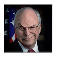 DICK CHENEY SNEER - Tile Coaster