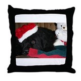 Newfoundland Dog Holiday Throw Pillow