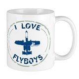 I Love Flyboys -navy/green Mug
