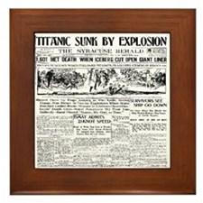 Titanic Sunk by Explosion Framed Tile