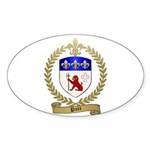 PATE Family Crest Oval Sticker